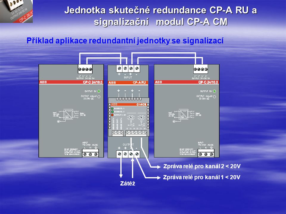 Jednotka skutečné redundance CP-A RU a signalizační modul CP-A CM