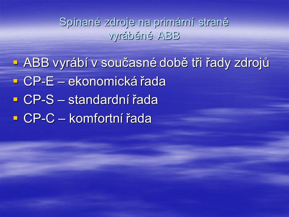 Spínané zdroje na primární straně vyráběné ABB