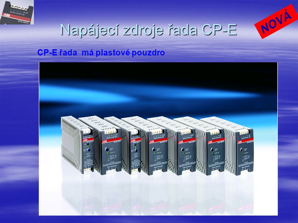 Napájecí zdroje řada CP-E