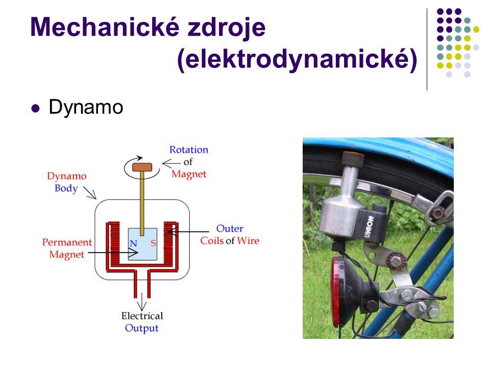 Mechanické zdroje (elektrodynamické)
