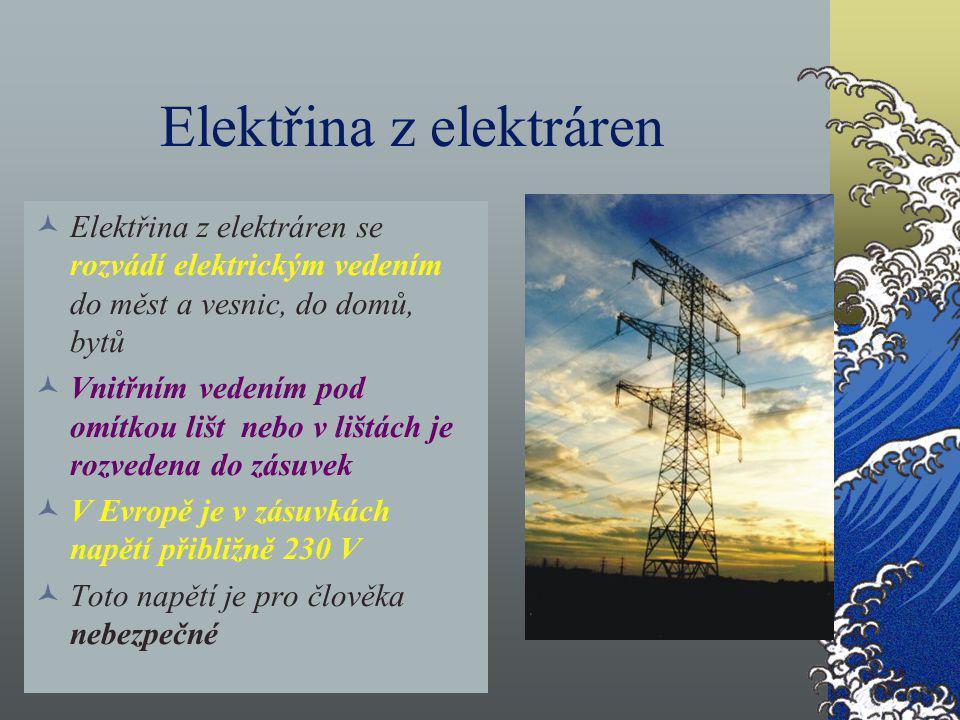 Elektřina z elektráren