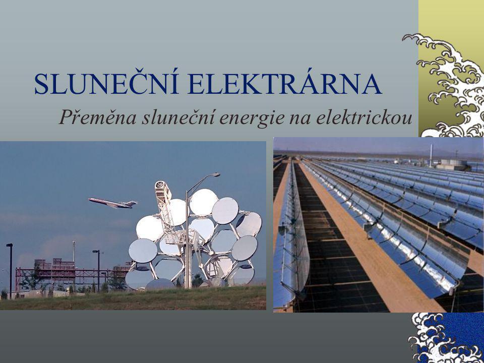 Přeměna sluneční energie na elektrickou