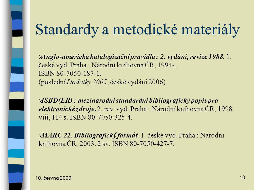 Standardy a metodické materiály