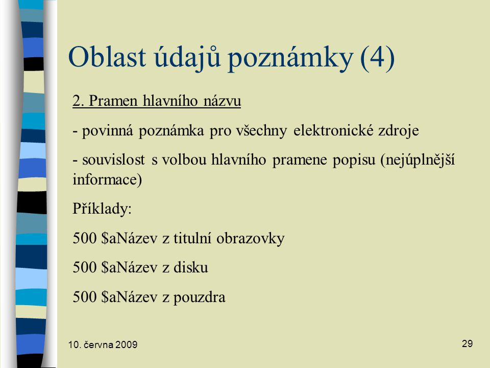 Oblast údajů poznámky (4)
