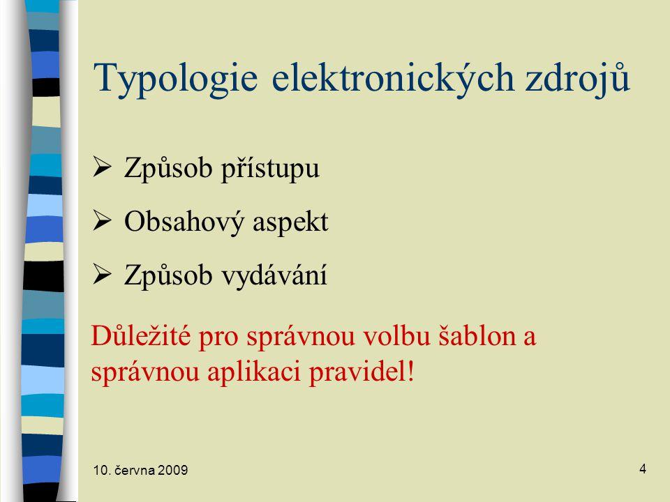 Typologie elektronických zdrojů