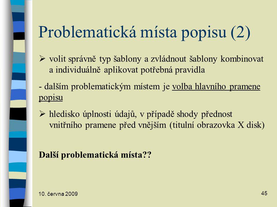 Problematická místa popisu (2)