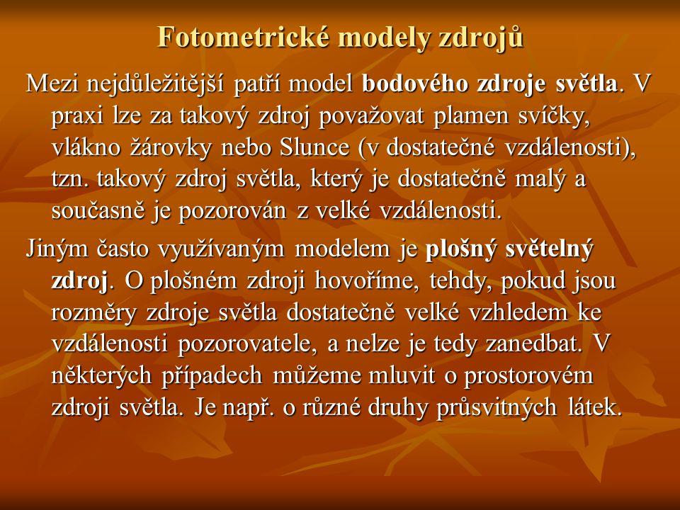Fotometrické modely zdrojů