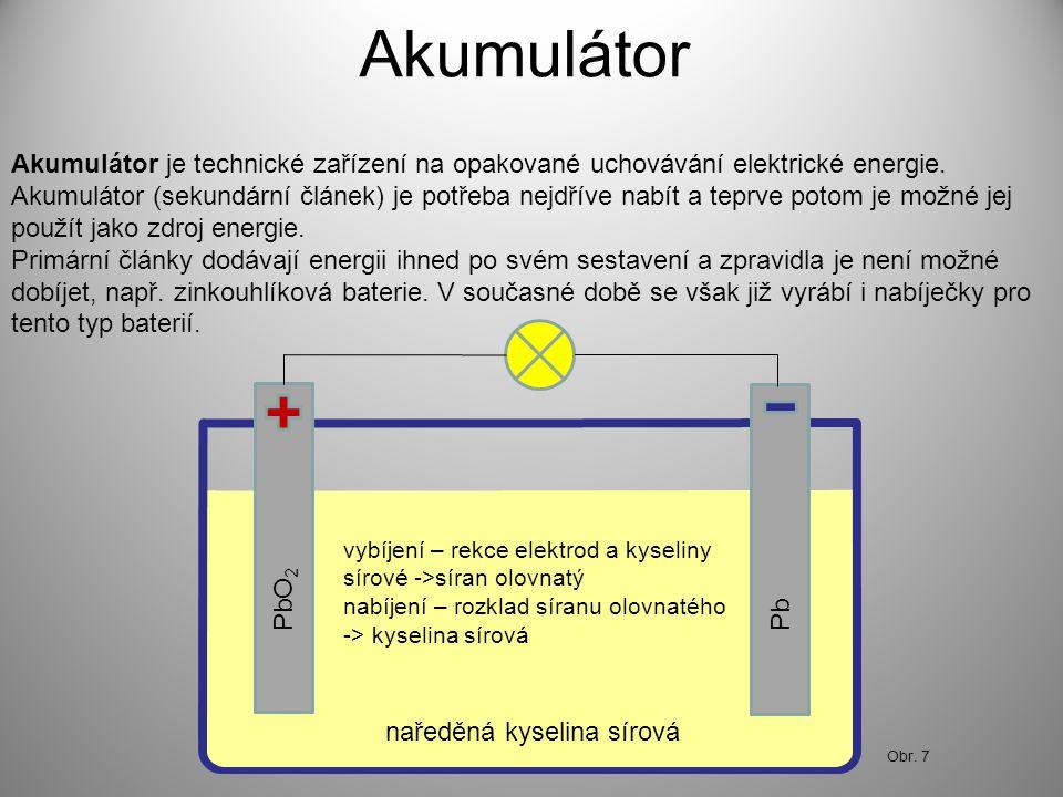 Akumulátor Akumulátor je technické zařízení na opakované uchovávání elektrické energie.