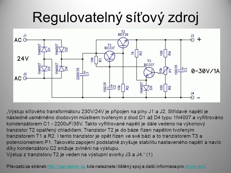 Regulovatelný síťový zdroj