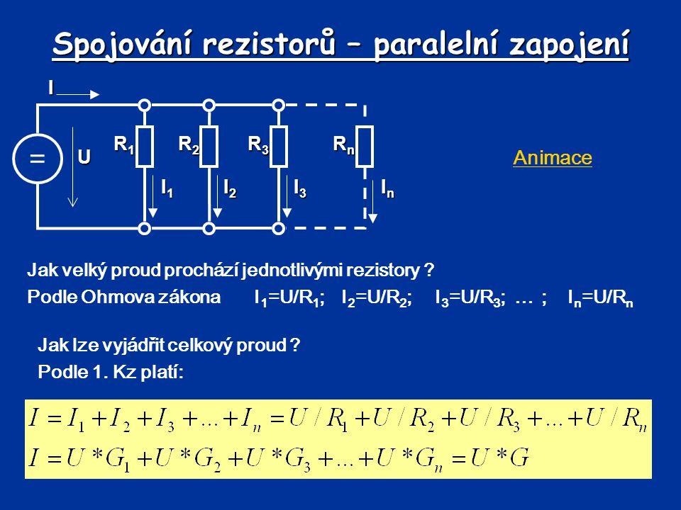 Spojování rezistorů – paralelní zapojení