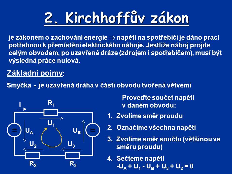 2. Kirchhoffův zákon = Základní pojmy: