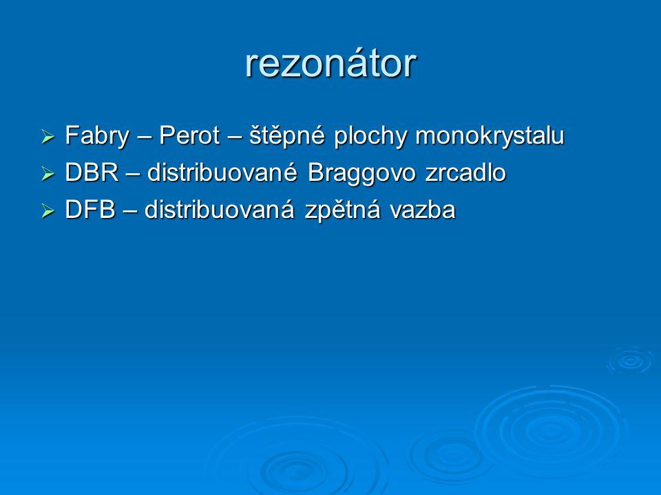 rezonátor Fabry – Perot – štěpné plochy monokrystalu