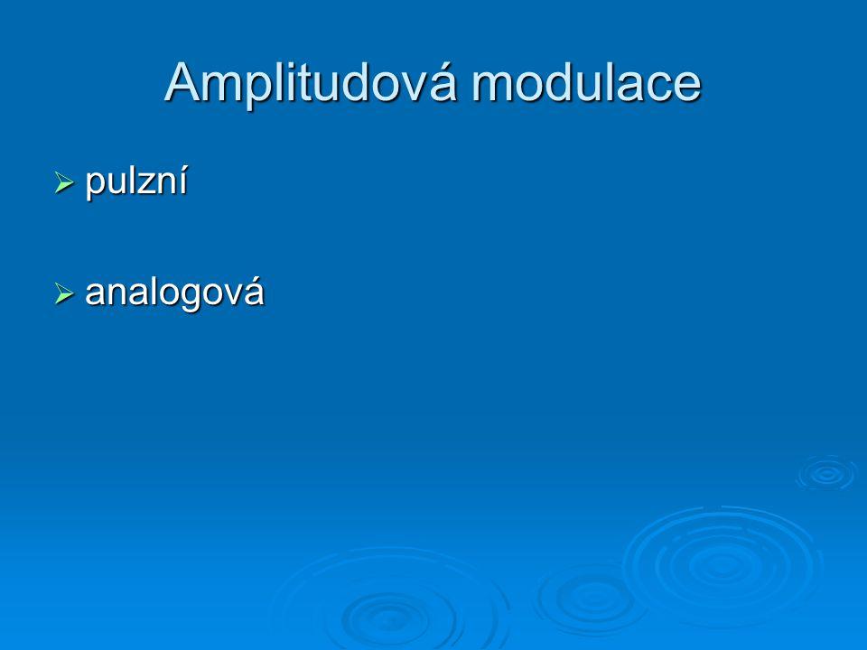 Amplitudová modulace pulzní analogová