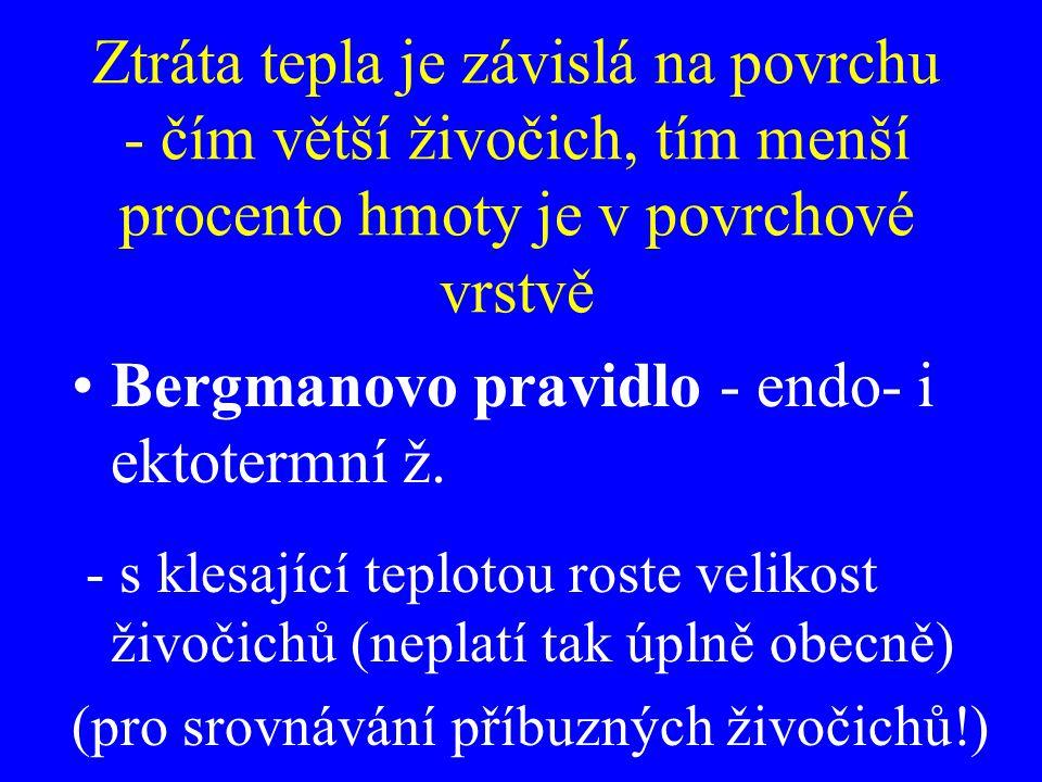 Bergmanovo pravidlo - endo- i ektotermní ž.