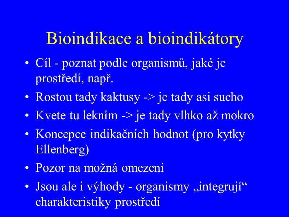 Bioindikace a bioindikátory