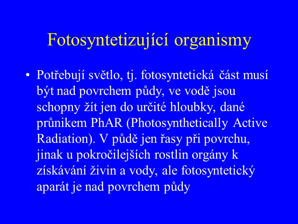 Fotosyntetizující organismy