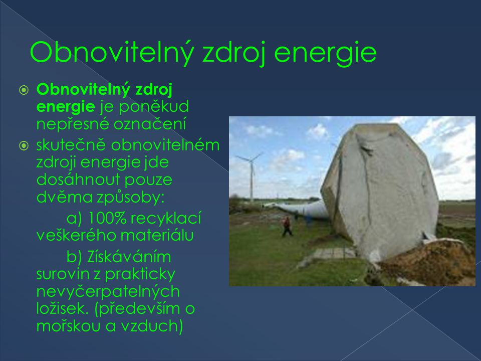 Obnovitelný zdroj energie