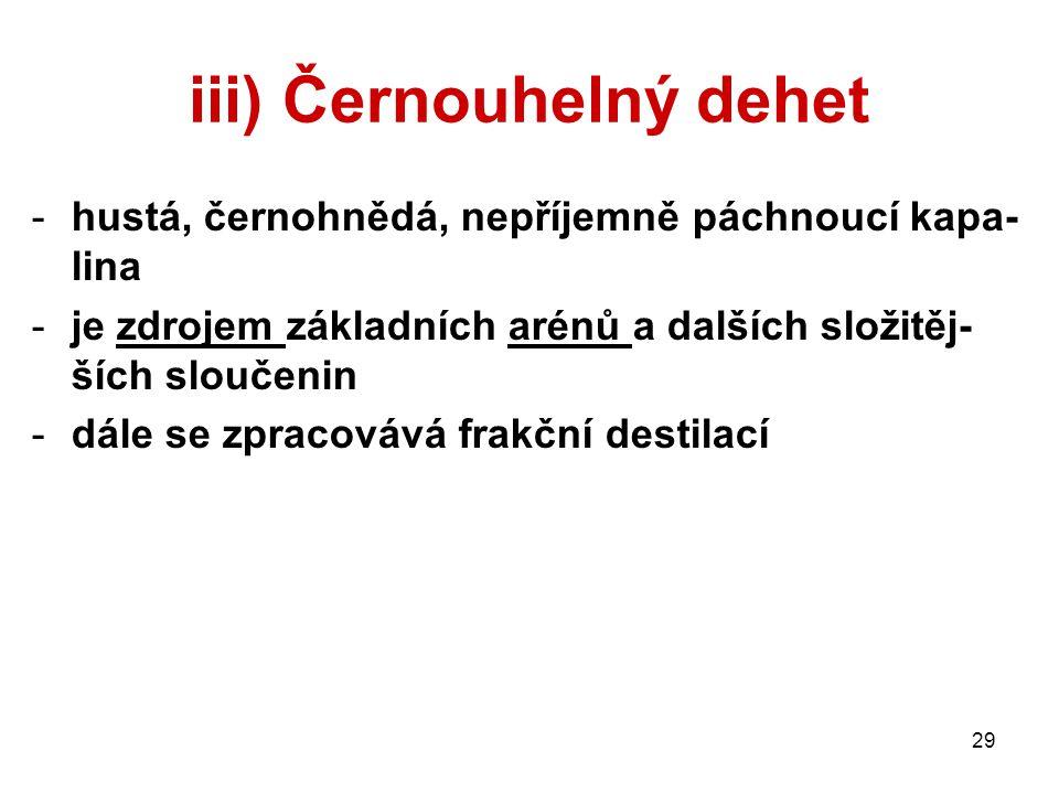 iii) Černouhelný dehet