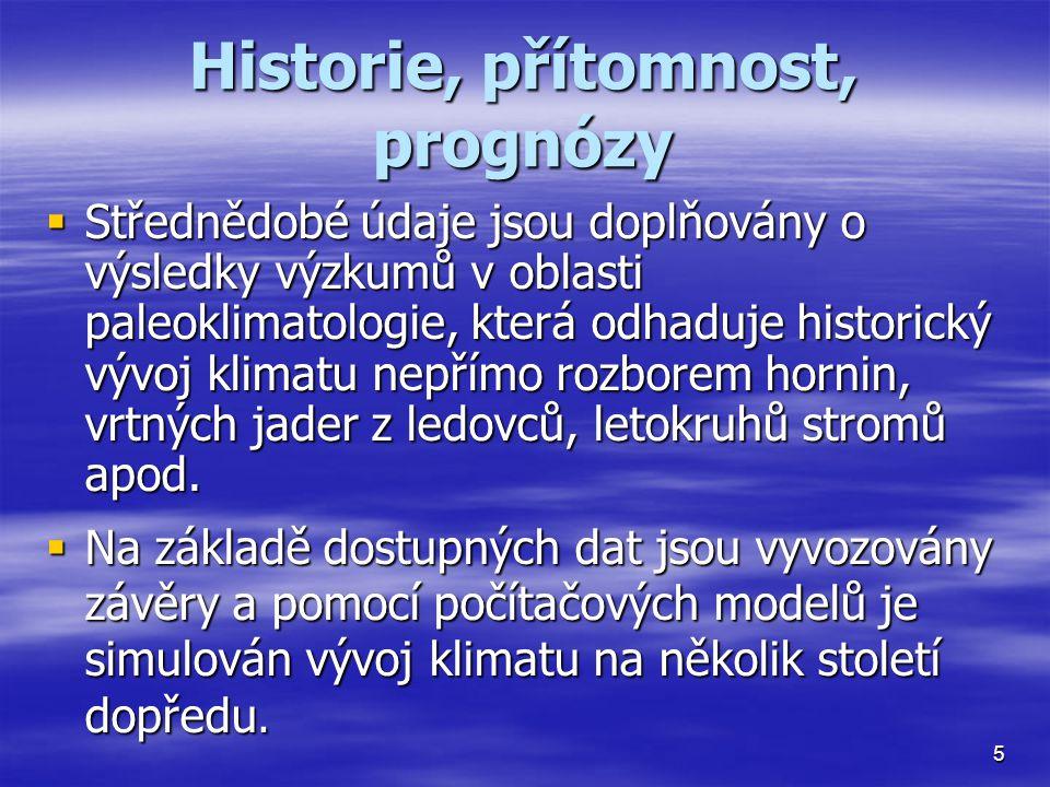 Historie, přítomnost, prognózy