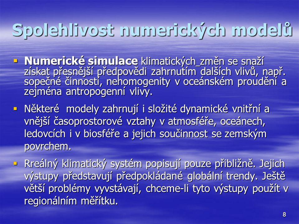 Spolehlivost numerických modelů