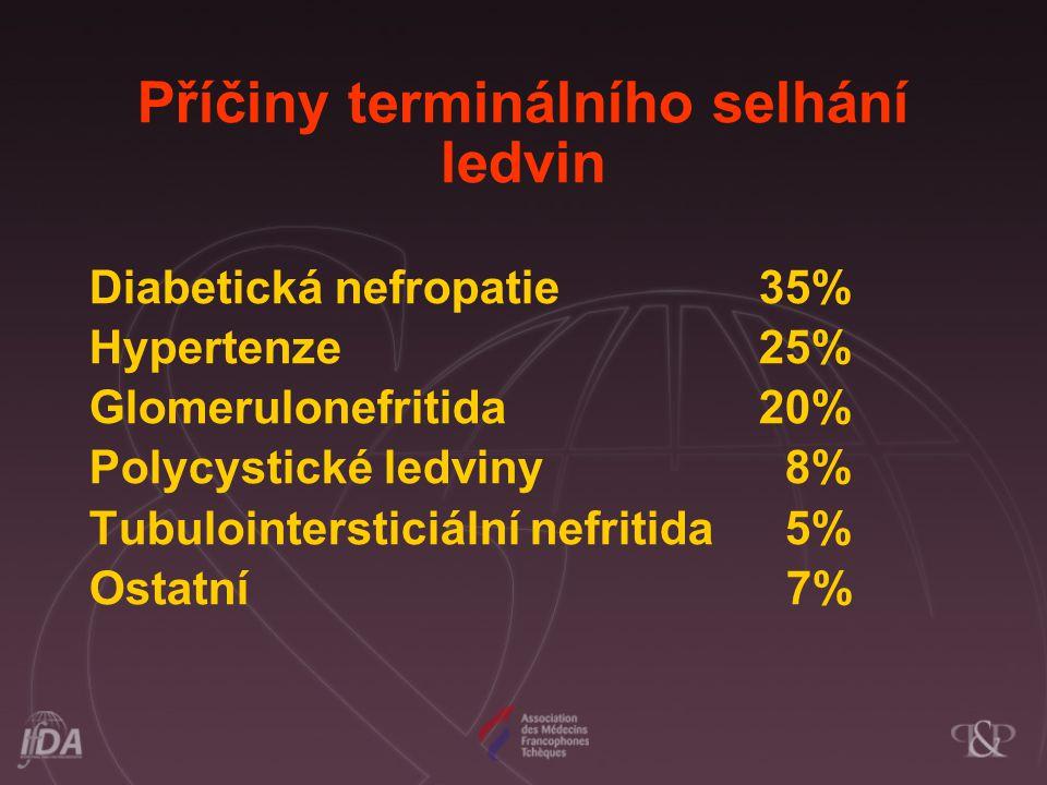 Příčiny terminálního selhání ledvin