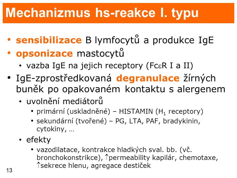 Mechanizmus hs-reakce I. typu