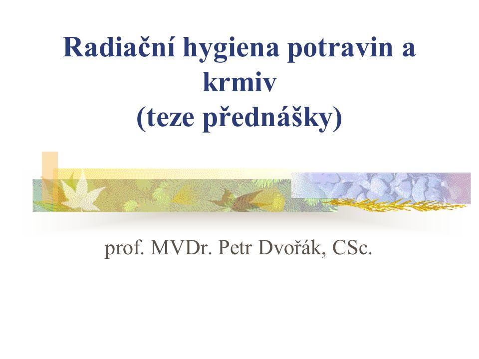 Radiační hygiena potravin a krmiv (teze přednášky)