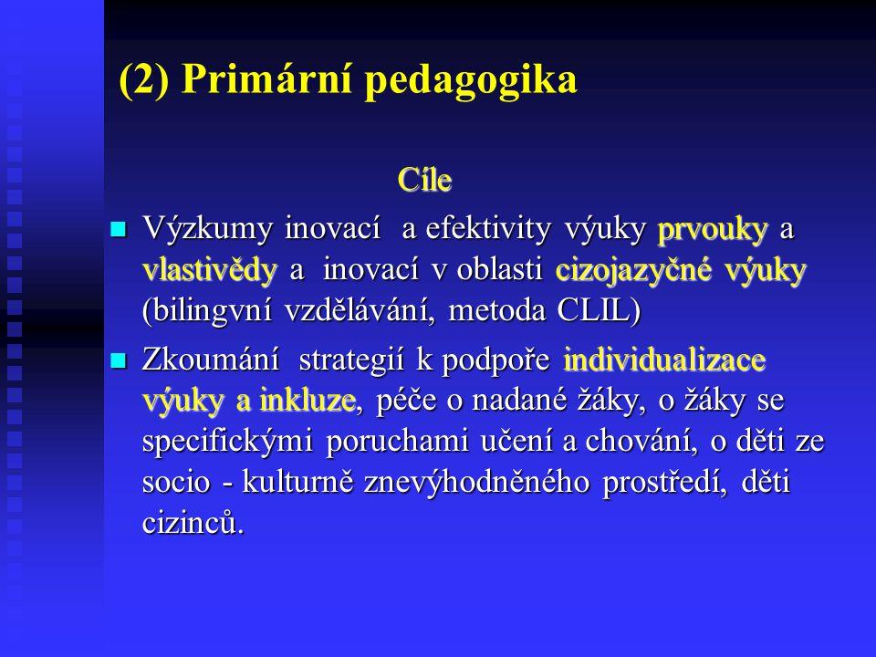 (2) Primární pedagogika