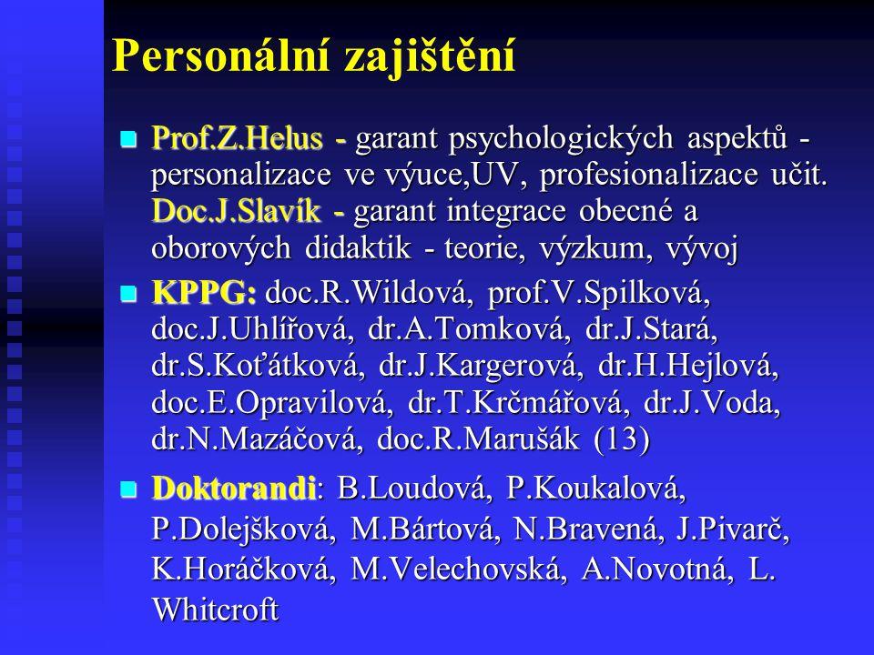 Personální zajištění