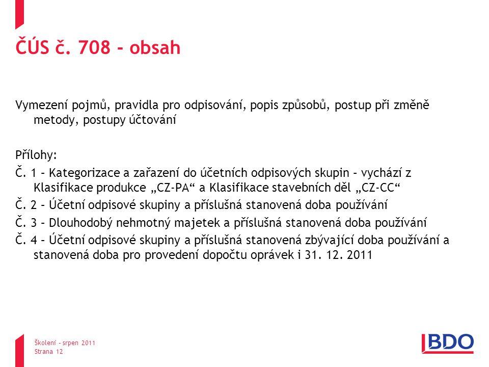ČÚS č. 708 - obsah