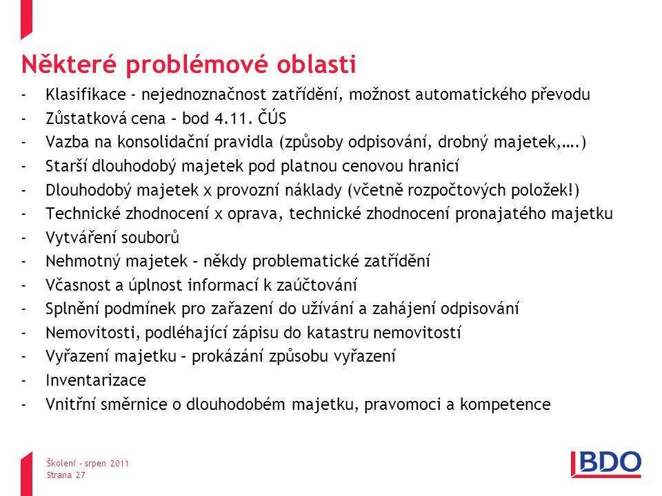 Některé problémové oblasti