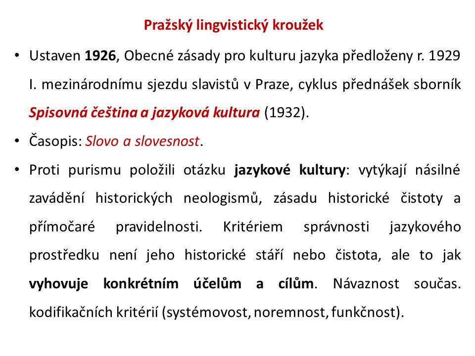 Pražský lingvistický kroužek