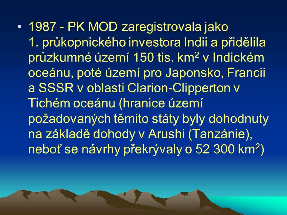 1987 - PK MOD zaregistrovala jako 1