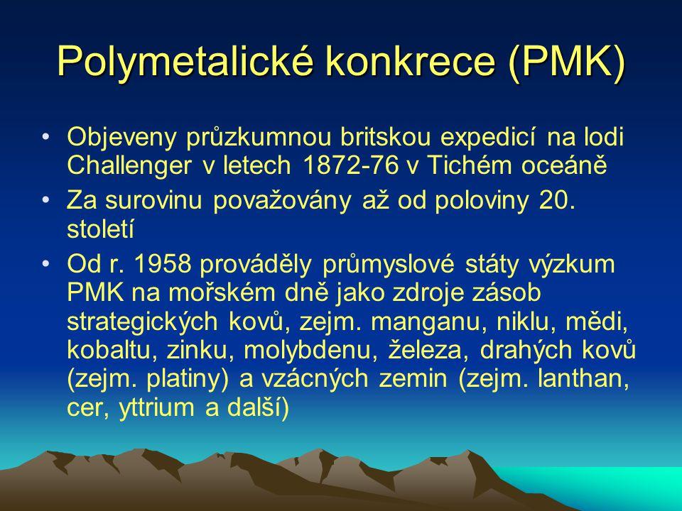 Polymetalické konkrece (PMK)