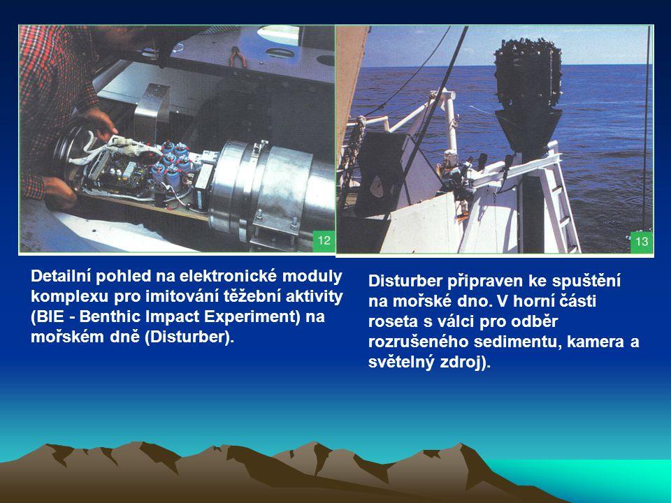 Detailní pohled na elektronické moduly komplexu pro imitování těžební aktivity (BIE - Benthic Impact Experiment) na mořském dně (Disturber).