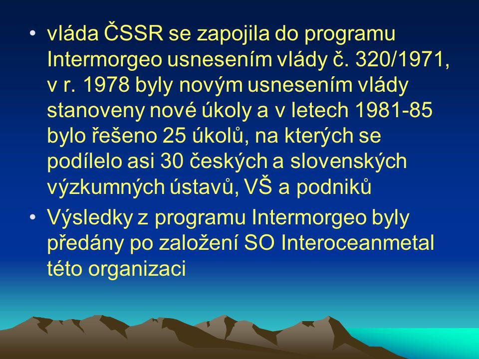 vláda ČSSR se zapojila do programu Intermorgeo usnesením vlády č