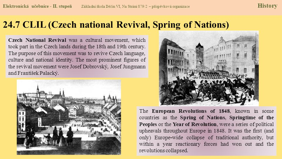 24.7 CLIL (Czech national Revival, Spring of Nations)