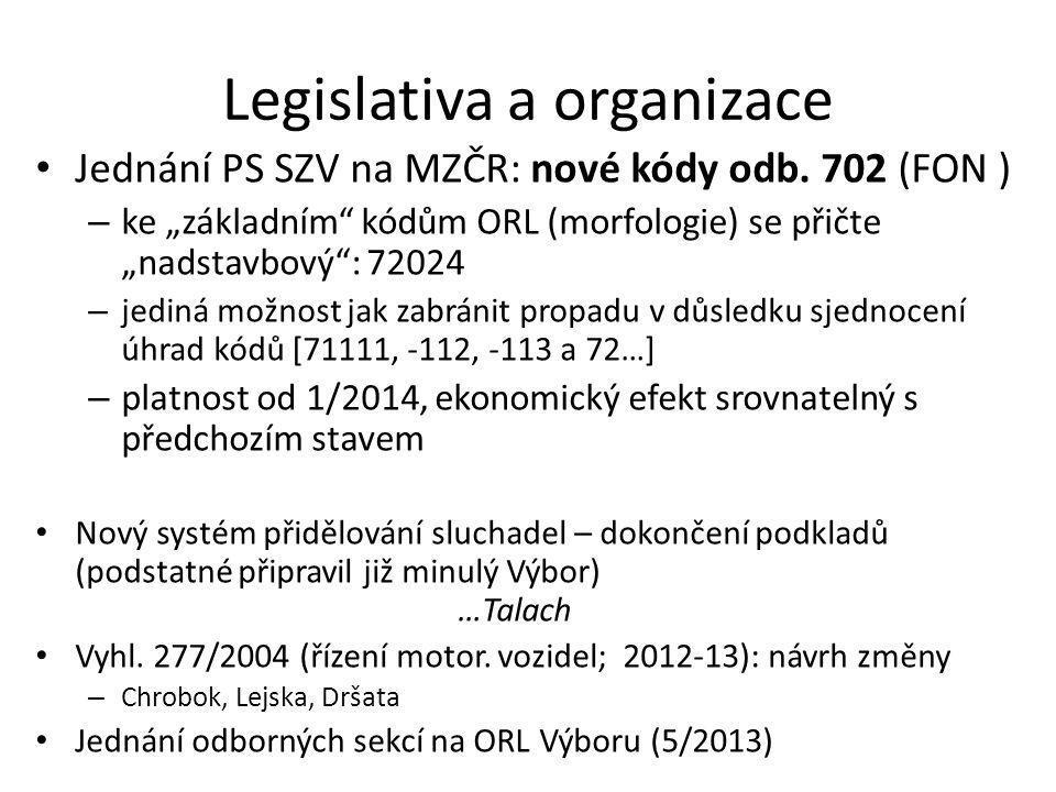 Legislativa a organizace