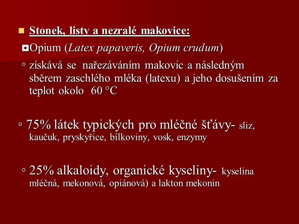 ◘Opium (Latex papaveris, Opium crudum)