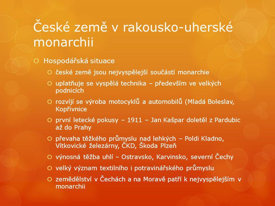 České země v rakousko-uherské monarchii