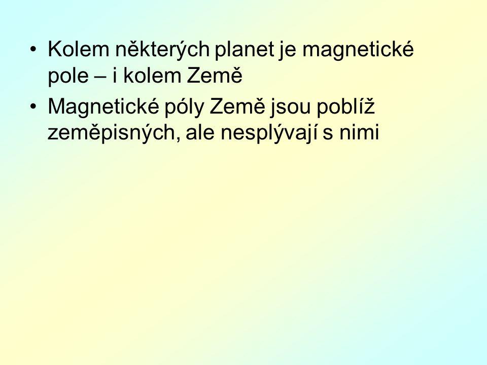 Kolem některých planet je magnetické pole – i kolem Země