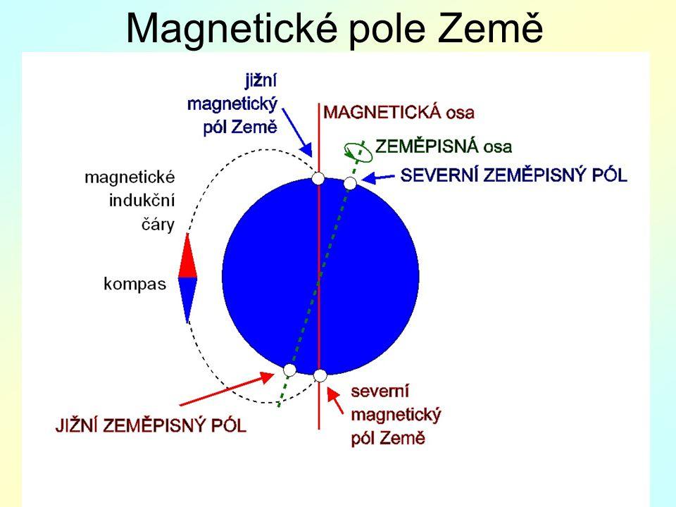 Magnetické pole Země M: kompasy, magnet