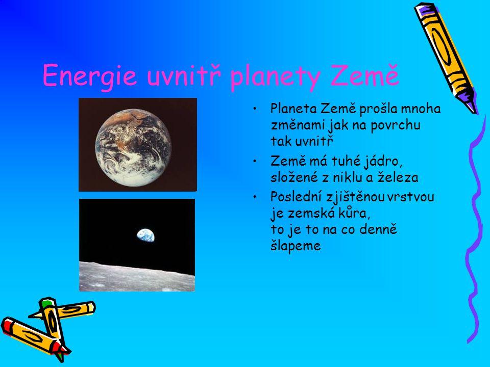 Energie uvnitř planety Země