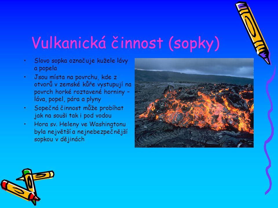 Vulkanická činnost (sopky)