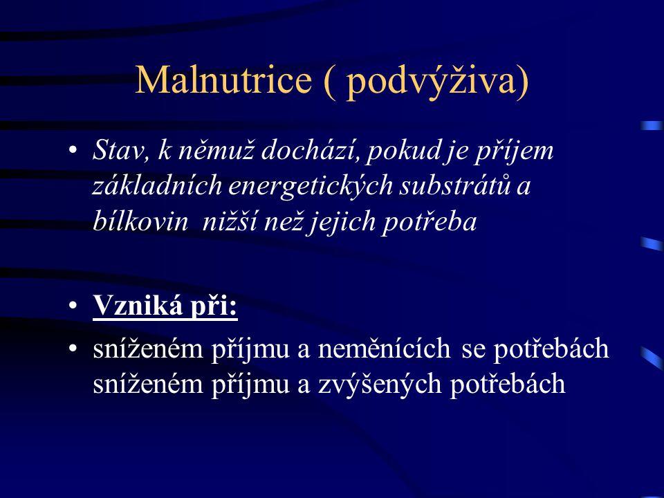 Malnutrice ( podvýživa)