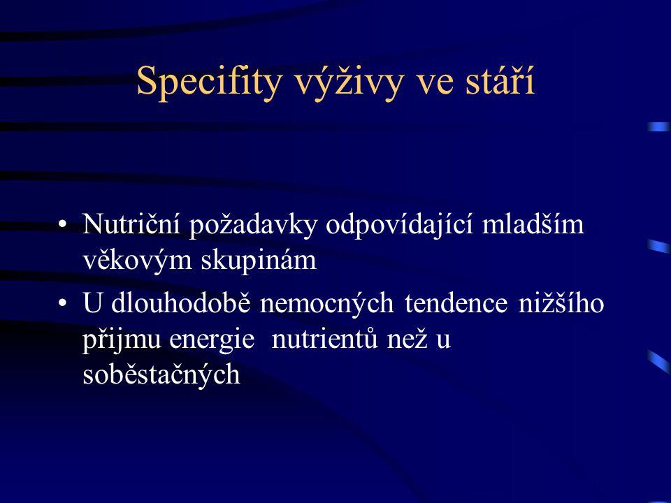 Specifity výživy ve stáří