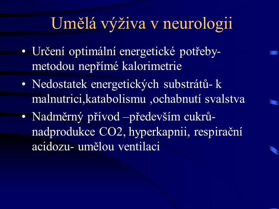 Umělá výživa v neurologii