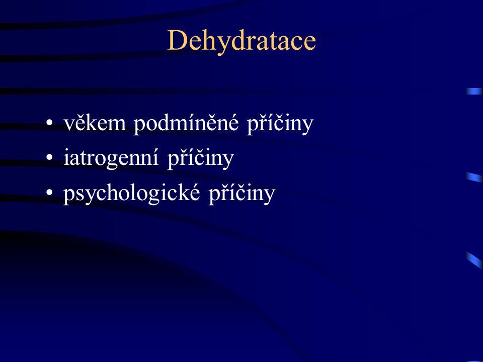 Dehydratace věkem podmíněné příčiny iatrogenní příčiny