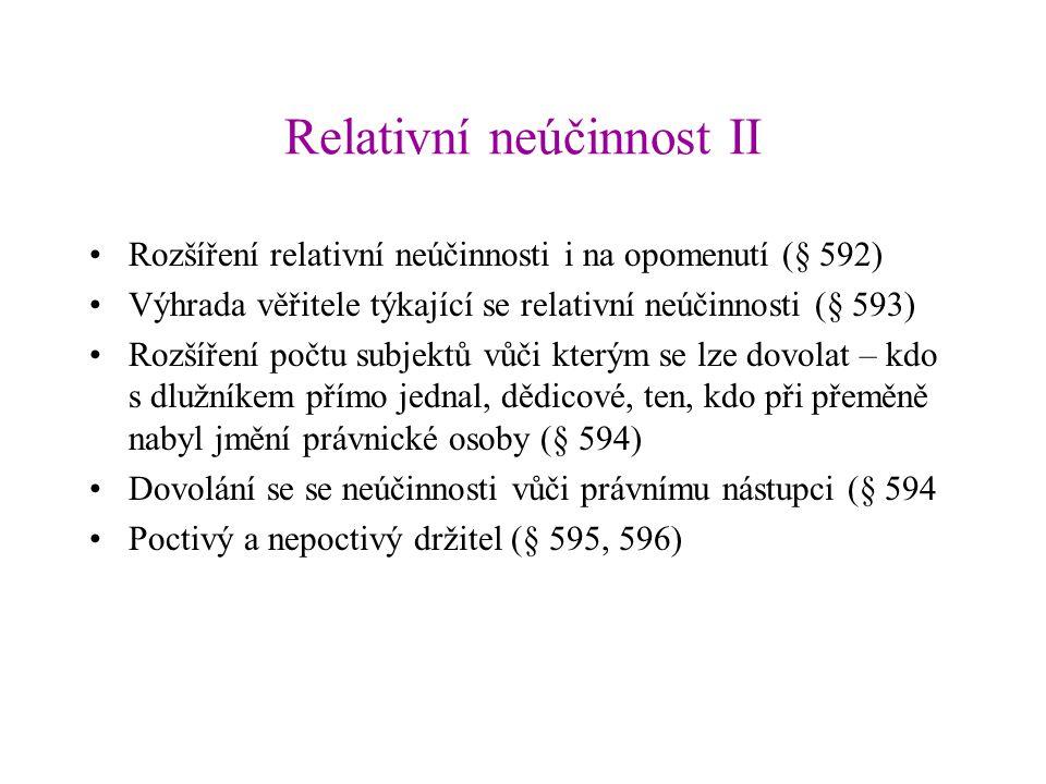 Relativní neúčinnost II