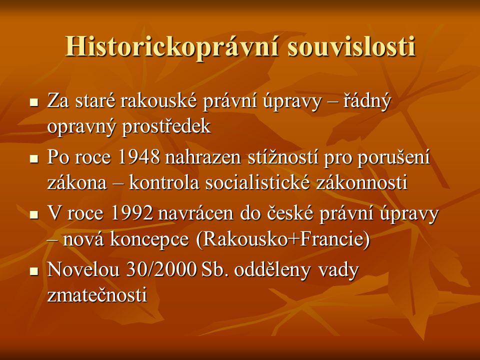 Historickoprávní souvislosti